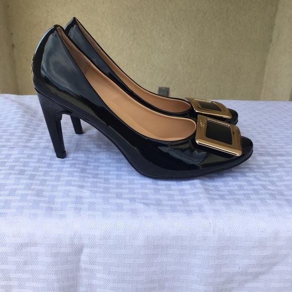 Roger Vivier Shoes - Roger Vivier slip on high heels buckle top size 37